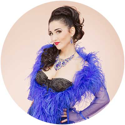 Miss Indigo Blue, Headmistress of the Academy of Burlesque