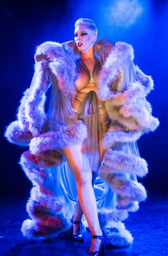 burlesque dancer on stage